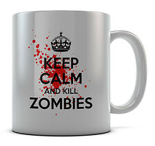 Keep Calm and Kill Zombie Tazza Regalo Idea Regalo Caffè Tè