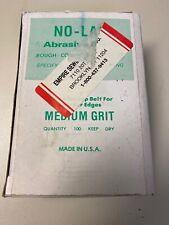Box Of 100 - Medium Grit, Sharpening Abrasive Belts Bands, No Lap