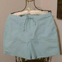 Lands' End Women's Aqua Shorts ~ Size 12