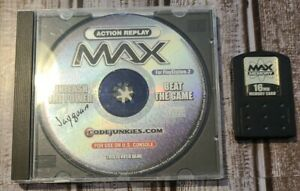 Action Replay Max For The PS2 With Memory Card And Disc