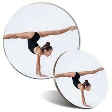 Alfombrilla Ratón Juego de Posavasos & Ejercicio Yoga gimnasta Gimnasio Fitness #45270