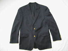 Hart Schaffner Marx Nordstrom Navy Gold 2 Button Wool Blazer Jacket Men's 40 R