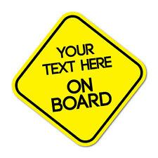 Custom Text On Board Sticker Decal Car Vinyl Personalized Text #6273EN