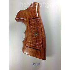 "New Rossi Small Frame Square Butt Revolver Grips Checkered Hardwood Handmade """