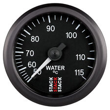 Stack 50-115 Deg C Water Temperature Gauge 52mm Mechanical Black Face 3107