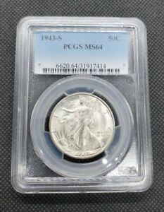 1943-S Walking Liberty Half Dollar   PCGS MS64
