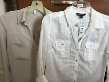 (2) Womens Express Size Small Convertable Sleeve Tops.