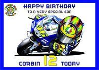 personalised birthday card motoGP motorbike name/age/relation