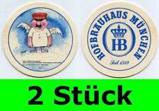 2 Stück Bierdeckel  Hofbräuhaus München - Ein Münchner im Himmel Nr. 21 Aloisius