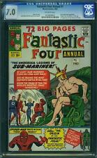 Tu Four Annual # 1 US Marvel 1963 Sub Mariner Spider Man CGC 7.0 FN-VFN
