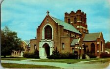 1950'S. GRACE EPISCOPAL CHURCH. MONROE, LA. POSTCARD. TW6