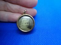 ANTIQUE VICTORIAN ROLLED GOLD PHOTO LOCKET PENDANT FOB