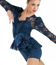 Womens DANCE NEW Small Adult  Navy lace lyrical jazz costume