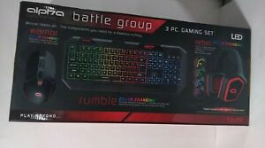 Alpha Gaming Combo Pack with Headphones, Keyboard & Mouse - 6794 MY. color black