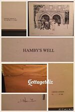 Hamby's Well Dawson Salts & Water Co. Lithograph 1974 Framed