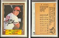 Eddie Taubensee Signed 1990 CMC #876 Card Cedar Rapids Reds Auto Autograph