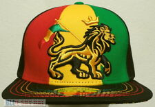 RASTA FLAG RASTAFARI LION ZION REGGAE MARIJUANA ONE LOVE BLESS CAP HAT SNAPBACK