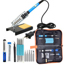 Electric Soldering Iron Gun Tool Kit 110V 60W Control ℃ Welding Station Tip Case