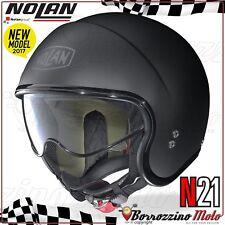 CASCO MOTO SCOOTER JET NOLAN N21 N-21 CLASSIC MONO NERO OPACO 010 XS
