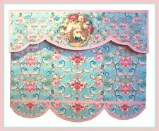 VICTORIAN LOVERS DESIGN  BLIND / CURTAIN / DRAPE FOR DOLLS HOUSE-BY SYLVIA ROSE