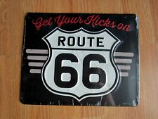 Get Your Kicks On Route 66 Highway Road Embossed Metal Tin Sign Home Garage