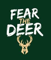 FEAR THE DEER Milwaukee Bucks Playoffs shirt Greek Freak Giannis Antetokounmpo
