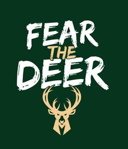 FEAR THE DEER Milwaukee Bucks Playoffs shirt Middleton Lopez basketball Mil