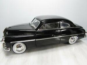 1949 FORD MERCURY  1/18 ERTL #0518U  CLASSIC BLACK  Opening Doors & Hood