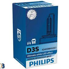 1x D3S Xenon PHILIPS White Vision gen2 HID Headlight Bulb 35W 42V 42403WHV2C1