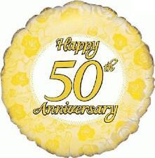 Happy 50th Wedding Anniversary Foil Balloon 46cm (18in) Golden Anniversary