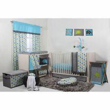 Blue Gray Green Elephant 10pc Crib Bedding Set Baby Boy Nursery Comforter Mobile
