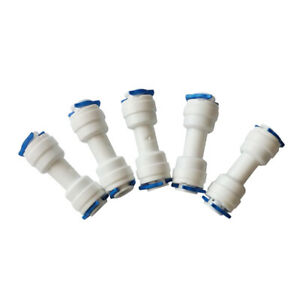 """20PCS 1/4"""" Equal Tube OD Straight Union Fitting Quick Connect Ro Water Purifier"""