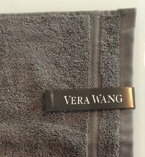 Vera Wang Luxury Washcloth Face Towel Wash Cloth Gray Grey NEW