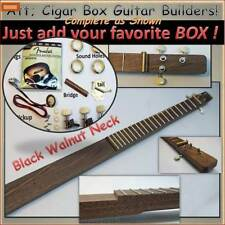 Cigar Box Guitar Kit, Hardwood  Neck 3 string. Everything except the Box