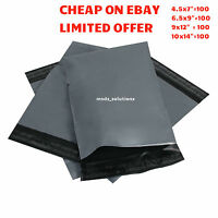 400 Assorted Grey Mailing Self Seal Strong Poly Postal Packaging Postage bags