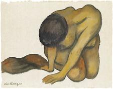 Rivera Diego Kneeling Woman Canvas Print 16 x 20   #7215