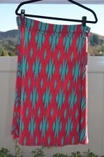 LuLaRoe NEW XXL Azure Skirt Red Teal NWT! Free Shipping!