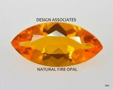 MEXICAN FIRE OPAL 8 x 4 MARQUISE CUT ALL NATURAL BEAUTIFUL COLOR