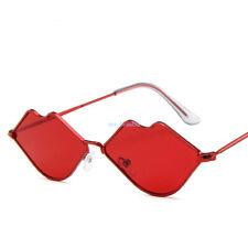 2019 Fashion Womens Retro Red lips Sunglasses Outdoor Matte&Bright Frame Glasses