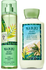 2pc Bath & Body Works WAIKIKI BEACH COCONUT Body Lotion & Fragrance Mist NEW