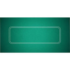 "Table Top Poker Texas Holdem Layout 36"" x 72"" Green Mat Pad Portable Felt Cover"
