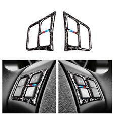 Carbon Fiber Steering Wheel Button Cover Trim For BMW 3 series E90 E92 2005-2012