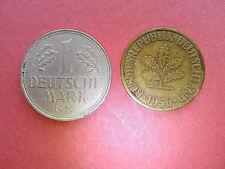 Monedas Alemana/10 Pfennig 1950/1 Deustche Mark 1970