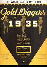 """Gold Diggers Of 1935 Sheet Music """"The Words Are in My Heart"""""""