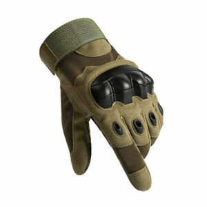 New Full Finger Tactical Gloves Protective Hard Knuckle Work Military Shooting