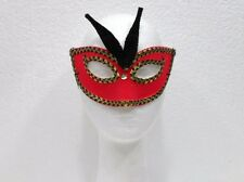 CARNEVALE, ALLOWEEN-MASCHERINA ROSSA CON DECORAZIONI