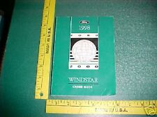 1998 FORD WINDSTAR VAN WAGON OWNER'S GUIDE MANUAL