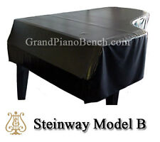 "Steinway Black Vinyl Grand Piano Cover Model B - 6'10.5"" - SIDE SLITS"