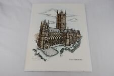 Canterbury Cathedral Color Print John A Simpson Unframed Numbered 1693