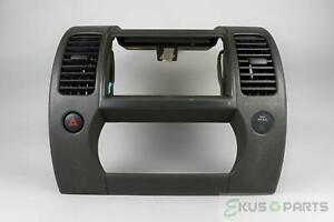 2005-08 Nissan Xterra Radio Climate Dash Trim Bezel with Vents and Hazard Switch